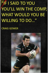 The Craig Gower poster that has been stuck up on the wall of the club's academy as motivation since the former captain addressed the team in November.