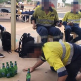 Workers involved in a drinking game at a Pilbara mining camp where a woman claimed sexual harassment was rife.