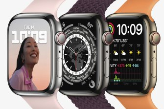 The steel Apple Watch Series 7, which comes in silver, graphite and gold, starts at $1049.