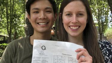 She said yes! The happy couple: Dennis Neuen and Melissa Godwin.