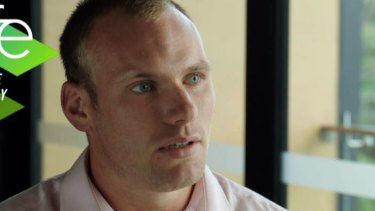 Contrite: Matt Lodge breaks his silence with an appearance on Fox Sports.