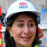 "NSW Premier Gladys Berejiklian, at the Martin Place Metro North Site in Sydney, on Wednesday, urged voters to ""trust the process""."