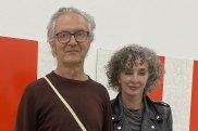 Artist John Nixon and gallerist Anna Schwartz earlier this year.