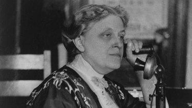 American suffragist Carrie Chapman Catt was friends with Vida Goldstein.