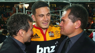 Sonny Bill Williams urged the All Blacks consider a Maori or Pacific Island coach, before Australia appointed Dave Rennie (right).