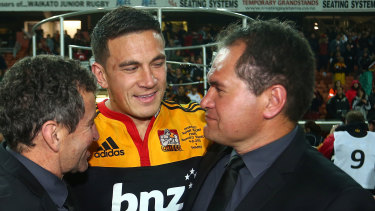 Sonny Bill Williams with then Chiefs coach Dave Rennie.