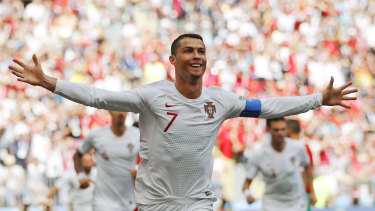 Deciding goal: Cristiano Ronaldo's early header was the difference.