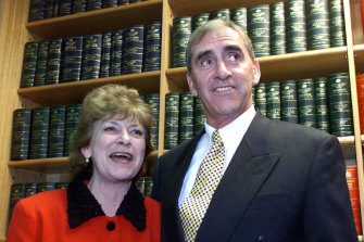 John Fahey and his wife Colleen, after his decision to retire from politics in 2001.