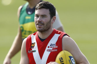 Mitch McGovern at training this week.