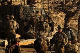 Australian soldiers in Uruzgan Province, Afghanistan.