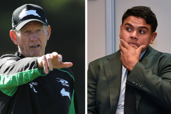 Wayne Bennett said not one of his fullback's three charges deserved a suspension in a passionate defence of his game breaker.