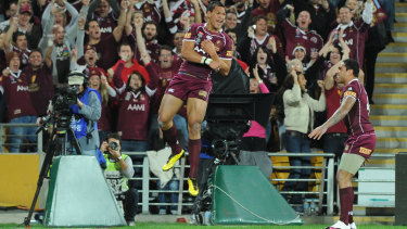 Israel Folau once lit up State of Origin for Queensland, before moving to the AFL and then into rugby.