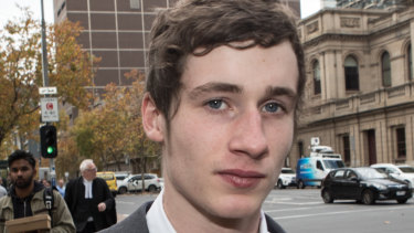 Kyan Foster was punched by the police officer on a footpath in the Melbourne suburb of Vermont.