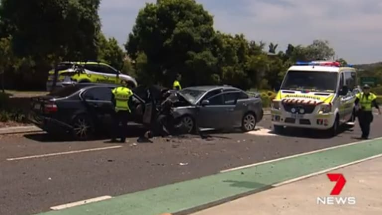 Two people have died in a horror head-on smash at Manly West on Christmas Day.