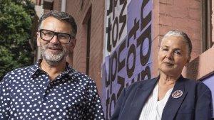 Fiona Scanlan and Robert Buckingham, curators of the Uptown festival.
