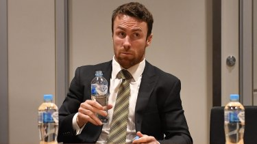 James Maloney at the judiciary on Tuesday night.