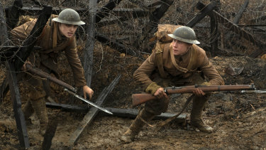Dean-Charles Chapman, left, and George MacKay in  1917, directed by Sam Mendes.