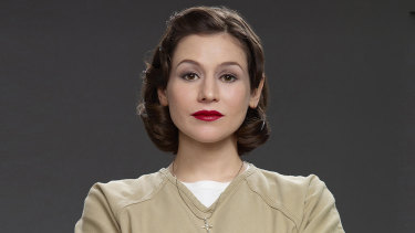 Australian actor Yael Stone in character as Morello in Orange is the New Black