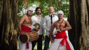 From left, Prasanna Rupathilaka, Sumudi Suraweera, Reuben Derrick and Susantha Rupathilaka.