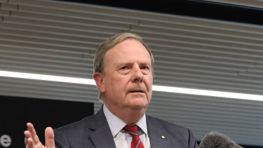 Nine Chairman Peter Costello opens the new Nine offices in North Sydney in December 4, 2020.