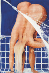 Brett Whiteley's painting of his daughter, Arkie, under the shower.