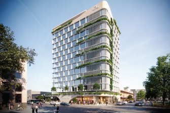 """The Fortitude Valley Hotel has been pitched as an attempt to revitalise the """"long standing eyesore"""" that is the southern end of the Valley."""
