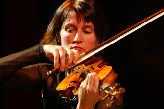 Guest violinist Viktoria Mullova.