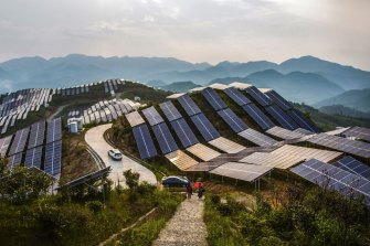 While a big producer of coal-fired power plants, China is also the world's largest producer of renewable energy plants, including solar farms.