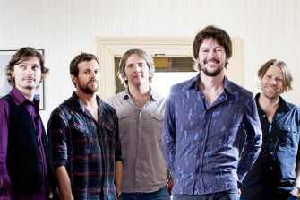 Powderfinger performed together again - apart - on a Saturday night livestream.