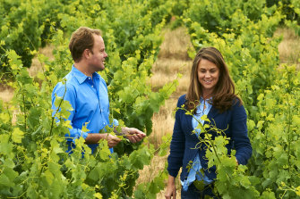 Siblings Matt and Janelle Swinney of Swinney vineyards in the Frankland River region of Western Australia.