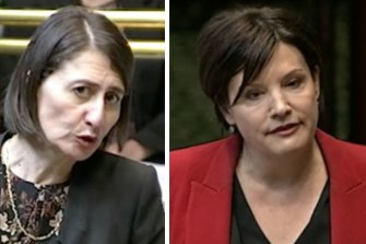 NSW Premier Gladys Berejiklian and Opposition leader Jodi McKay ... both have much at stake in this byelection.