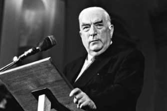 Then prime minister Robert Menzies in 1965.