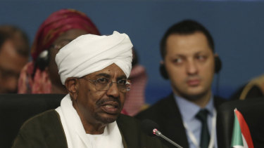 Omar al-Bashir, who has been held under house arrest after stepping down from the country's leadership, pictured in 2018.