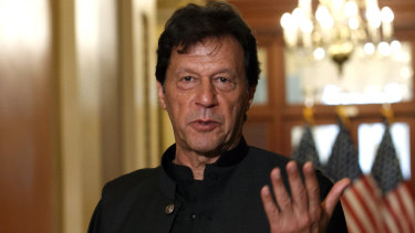 Pakistan's Prime Minister Imran Khan in the US last month.