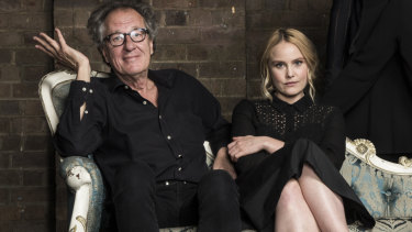 Geoffrey Rush and Eryn Jean Norvill, photographed at the Sydney Theatre Company ahead of the King Lear production.
