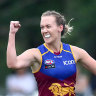 Lauren Arnell will run out for the Lions in this weekend's AFLW grand final.