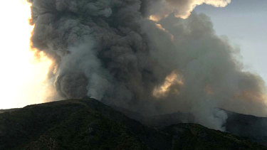 The volcano on the Italian island of Stromboli is the most active in the world.