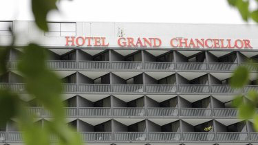The worker was infected while working at the Hotel Grand Chancellor.