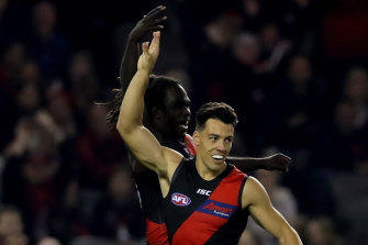 Dylan Shiel is back in Essendon's side.