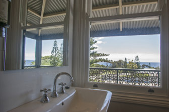 Loo with a view. A bathroom in one of the hotel's revamped rooms.