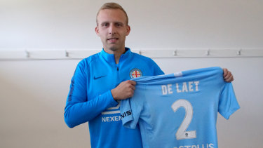 Laet to the party: New Melbourne City signing Ritchie De Laet.
