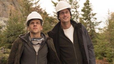 Jesse Eisenberg and Alexander Skarsgard play scheming cousins in The Hummingbird Project.