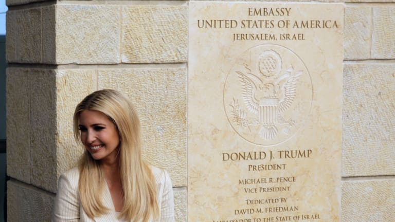 US President Donald Trump's daughter Ivanka Trump attends the opening ceremony of the new American embassy in Jerusalem.