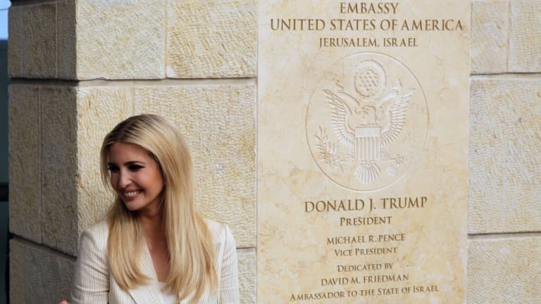 US President Donald Trump's daughter Ivanka Trump, attends the opening ceremony of the new American embassy in Jerusalem.