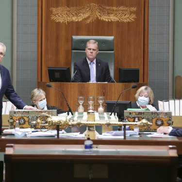 Prime Minister Scott Morrison and Opposition Leader Anthony Albanese during Question Time last year.