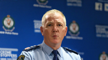 NSW Police Commissioner Mick Fuller is standing by the decisions he made regarding Don Harwin.