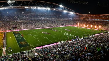The government will allow ANZ stadium to be half-full for the NRL grand final.