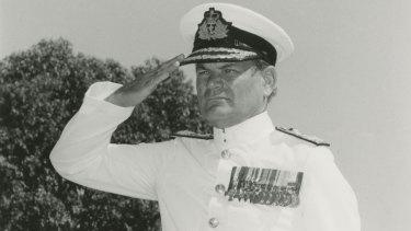 Rear-Admiral Andrew Robertson in ceremonial uniform.