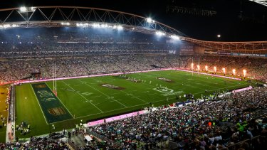 ANZ Stadium at full capacity for the 2019 grand final.