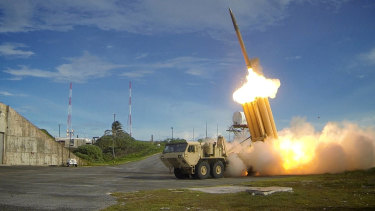 A Terminal High-Altitude Area Defence System, or Thaad, test.